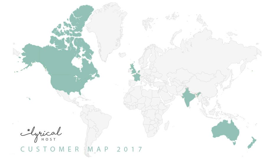 Lyrical Host Customer Map 2017