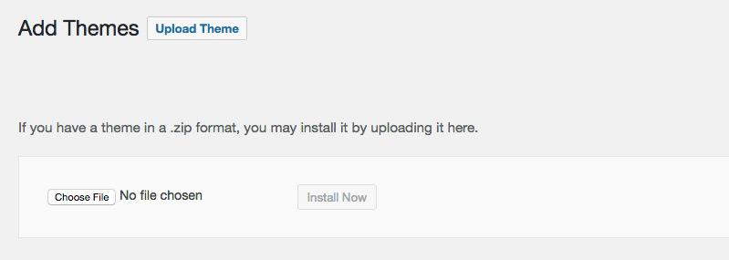 How to upload a WordPress theme